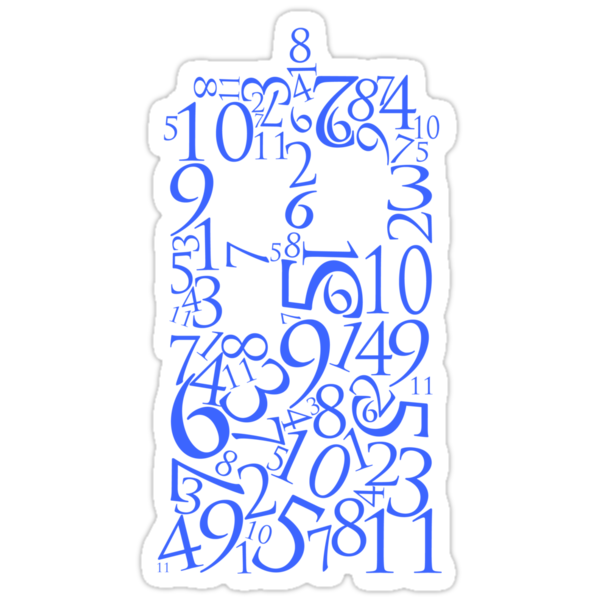 TARDIS in Numbers (Blue) by JellyDesigns