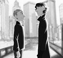 Sherlock + Paperman, Part 2 by Marie Mikolay