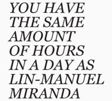 Same amount of time as Lin-Manuel Miranda Kids Clothes