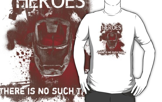 No Heroes T-Shirt Variant by Konoko479