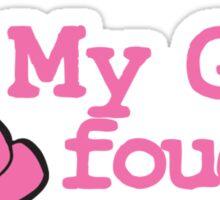 My Gma Fought and Won! Sticker