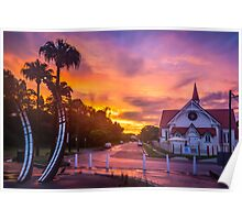 Sunset at Sandgate Poster