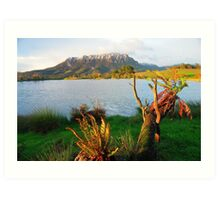 Mt Roland from Eagles Nest Retreat  Tasmania Art Print