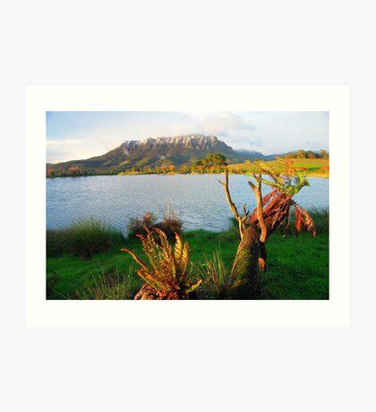 Mt Roland from Eagles Nest Retreat  Tasmania Art Print