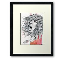 Futility of Words Framed Print