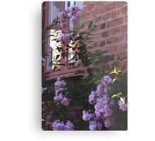 Brick and Lilacs Metal Print