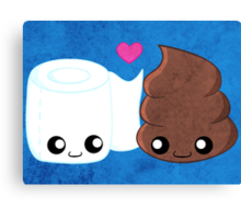 BFF's - Toilet Paper and Poop Canvas Print