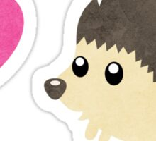 Hedgehog Love Sticker