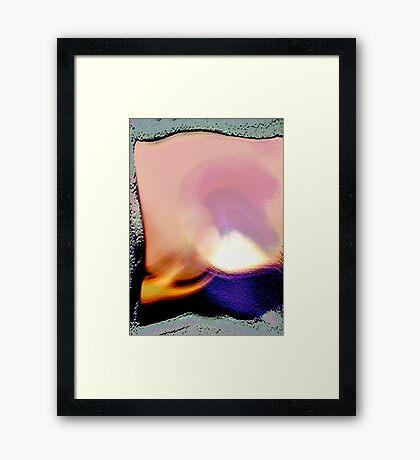 beginnings..... fire hand Framed Print