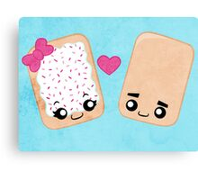 Toaster Pastry Love Canvas Print