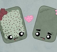 Zombie Toaster Pastry Love by Whitney Lynn