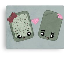 Zombie Toaster Pastry Love Canvas Print