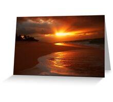 Sunset Beach, Oahu Greeting Card