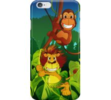 Monkey and lion iPhone Case/Skin