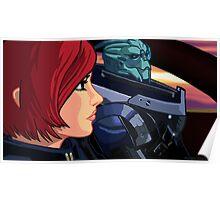 Mass Effect Cartoon - Old Friends Poster