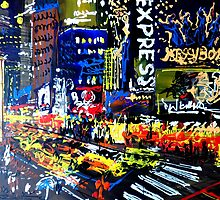 New York's Times Square 1 by Eraclis Aristidou