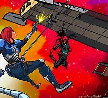 Mass Effect Cartoon - Husk Attack by GHaskell