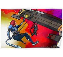 Mass Effect Cartoon - Husk Attack Poster