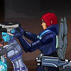 Mass Effect Cartoon - An Attack on the Cerberus Base by GHaskell