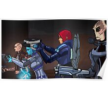 Mass Effect Cartoon - An Attack on the Cerberus Base Poster