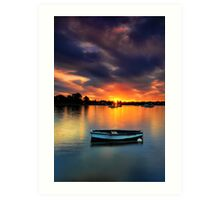 Floating Sunset # 2 Art Print