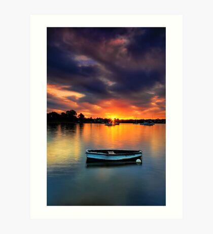 Floating Sunset # 2 Art Print