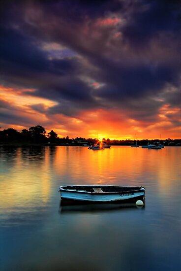 Floating Sunset # 2 by Arfan Habib