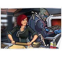 Mass Effect Cartoon - Cookie Time Poster