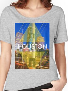 Houston Rockets Print Tee Women's Relaxed Fit T-Shirt
