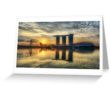 Saturday Sunrise - Marina Bay Sands Greeting Card