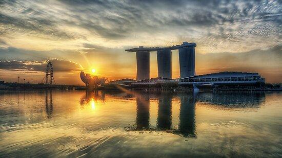 Saturday Sunrise - Marina Bay Sands by Jason Ruth