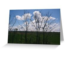 Clouds early evening Greeting Card
