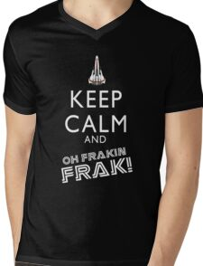 Oh Fraking Frak!!! Mens V-Neck T-Shirt