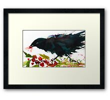 Christmas Crow Framed Print