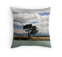 Landscape and Tree Throw Pillow