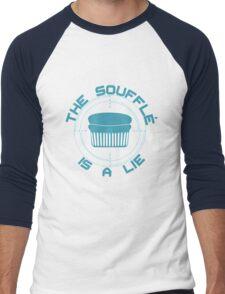 The Soufflé is a Lie Men's Baseball ¾ T-Shirt