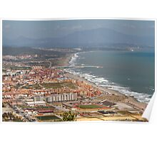A view of the Spanish coastline from the rock of Gibraltar Poster
