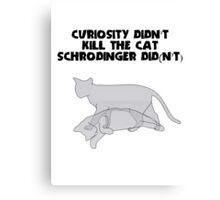 Schrodingers' Cat - Curiosity Canvas Print