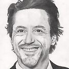 Robert Downey Jr. Pencil drawing by GillyArt
