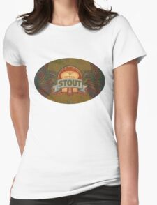OATMEAL BEER LABEL Womens Fitted T-Shirt