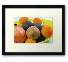 Plate of Fruits Framed Print