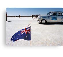 1954 FJ Holden on the salt Canvas Print