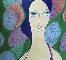 Hydrangea princess wears purple by Samantha Thompson