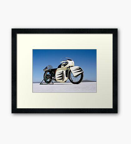 Triumph Thunderbird on the salt Framed Print