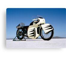 Triumph Thunderbird on the salt Canvas Print