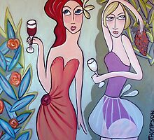 Red and white wine by Samantha Thompson