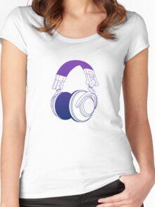 Vector Headphones Women's Fitted Scoop T-Shirt