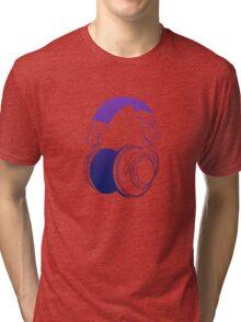 Vector Headphones Tri-blend T-Shirt