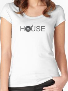 House Vinyl Women's Fitted Scoop T-Shirt