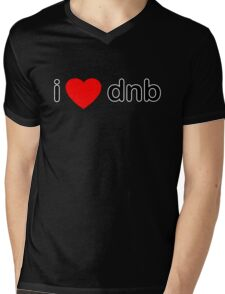 I Love DNB Mens V-Neck T-Shirt